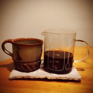 コーヒーをいれるとき