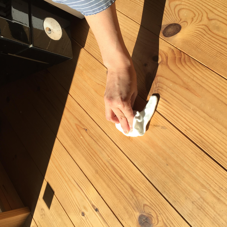 無垢床材のメンテナンス方法